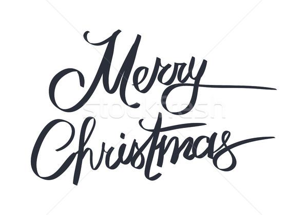Neşeli Noel happy new year tebrik kartı beyaz Stok fotoğraf © robuart