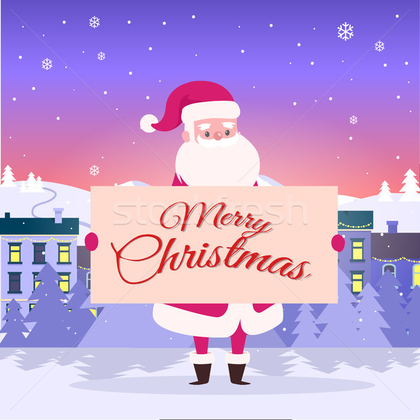 Merry Christmas from Santa on City Background. Stock photo © robuart
