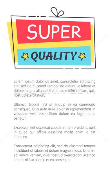 Super qualidade promo adesivo praça forma Foto stock © robuart