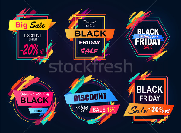 Discount -45 Black Friday on Vector Illustration Stock photo © robuart