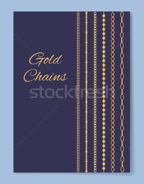 Lusso costoso oro catene poster Foto d'archivio © robuart