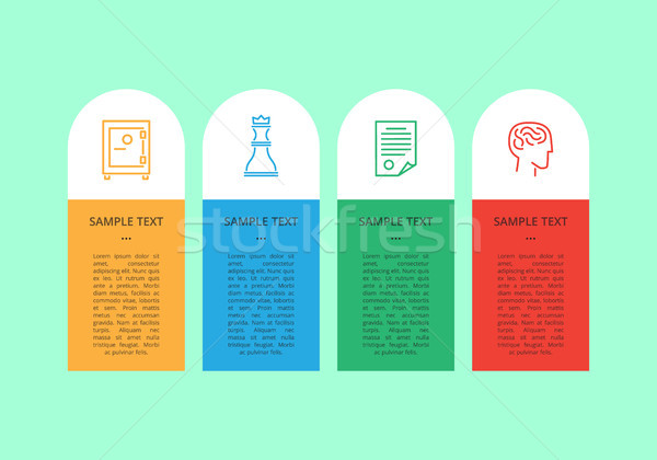 Infographic Collection Text Vector Illustration Stock photo © robuart