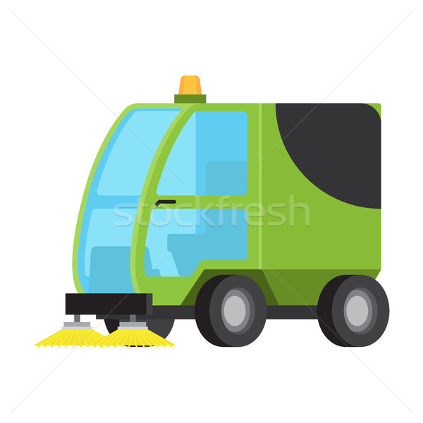 Road Sweeping Machine Isolated Flat Vector Icon Stock photo © robuart