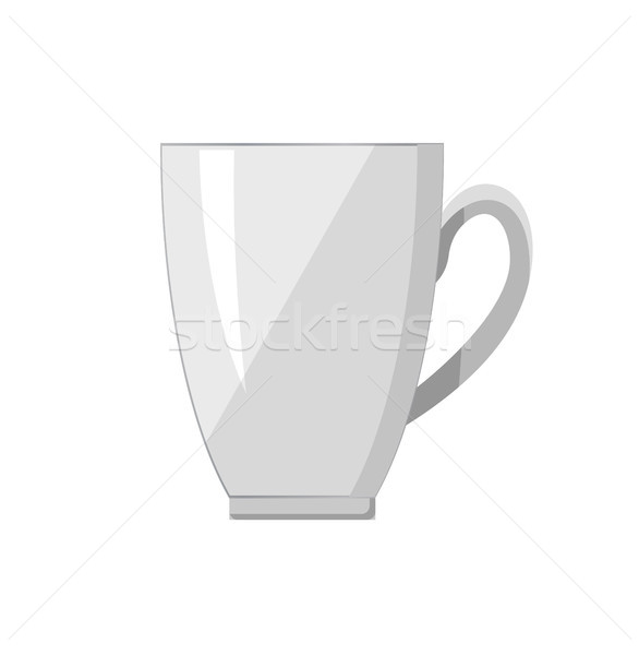 White Porcelain Cup Handle Vector Illustration Stock photo © robuart