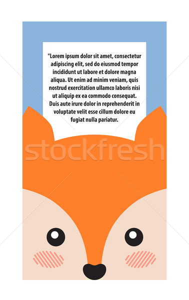 Fox Head Book Cover Design Vector Illustration Stock photo © robuart