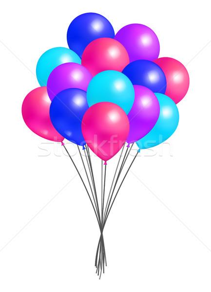 Multicolor Flying Balloon Bundle Realistic Design Stock photo © robuart