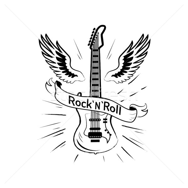 Rock rouler photos guitare populaire instrument de musique Photo stock © robuart