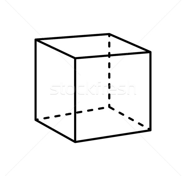 Küp yalıtılmış geometrik anlamaya siyah projeksiyon Stok fotoğraf © robuart