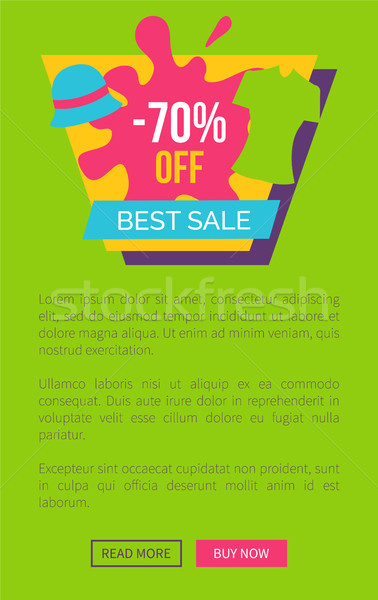 Special Offer Best Sale Promo Poster Push Buttons Stock photo © robuart