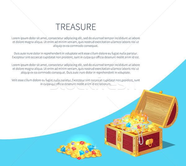 Tesouro pôsteres conjunto ouro antigo moedas Foto stock © robuart