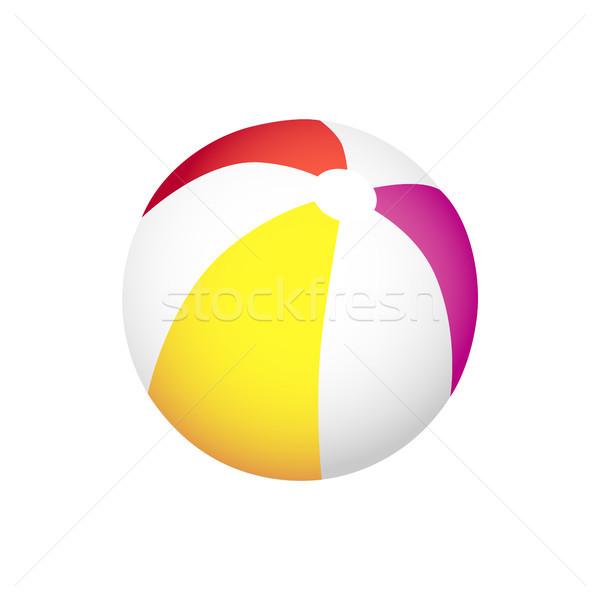 インフレータブル 縞模様の ボール 再生 ビーチ 夏 ストックフォト © robuart