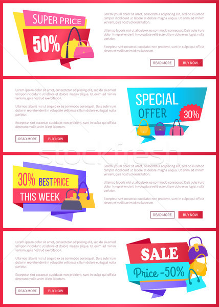Special Offer and Big Sale Internet Promo Pages Stock photo © robuart
