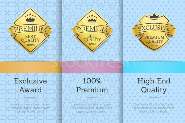 Exclusive Award 100 Premium High End Quality Stock photo © robuart