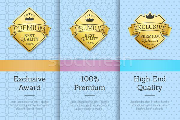 Exkluzív díj 100 prémium magas befejezés Stock fotó © robuart