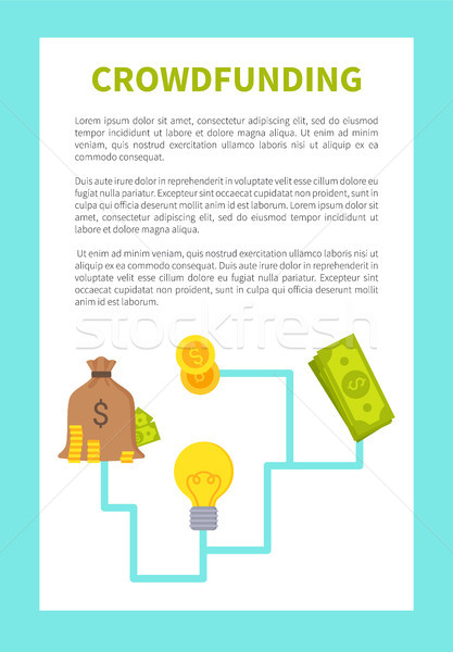 Crowdfunding Card Colorful Vector Illustration Stock photo © robuart