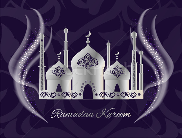 Ramadan Kareem Postcard with Mosque, Worship Place Stock photo © robuart