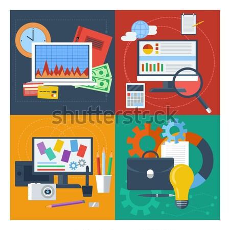 Digital marketing concept with megaphone Stock photo © robuart