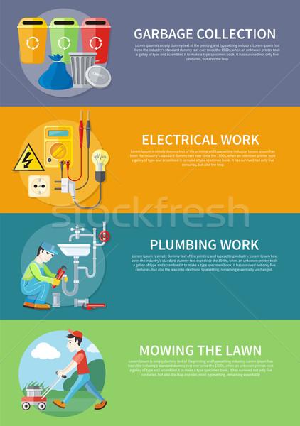 Eléctrica fontanería trabajo césped sanitario fontanero Foto stock © robuart