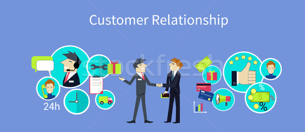 Client relation design gestion service clients crm Photo stock © robuart