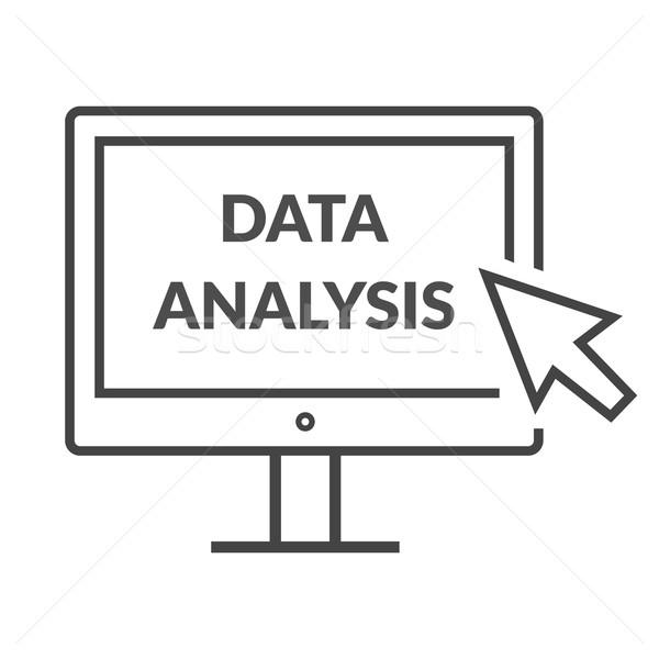 Marketing dati analitica statistiche grafico analisi Foto d'archivio © robuart