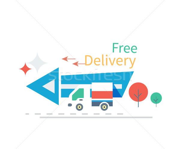 быстро бесплатная доставка икона дизайна службе бизнеса Сток-фото © robuart