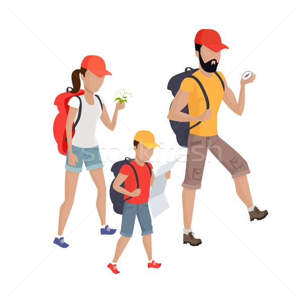 семьи походов иллюстрация вектора дизайна родителей Сток-фото © robuart
