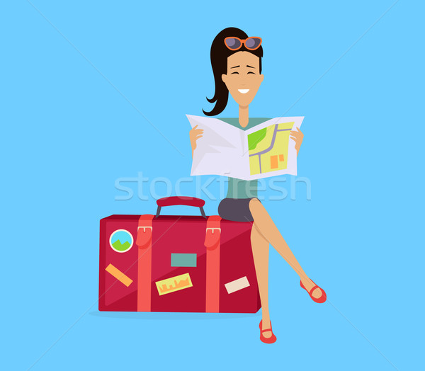 Traveling with Baggage Concept Illustration Stock photo © robuart
