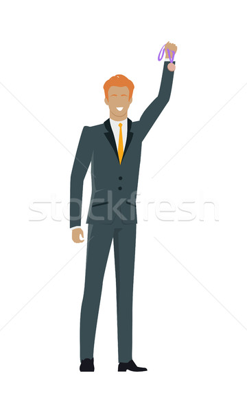 Successful Man Banner. Professional Growth. Stock photo © robuart