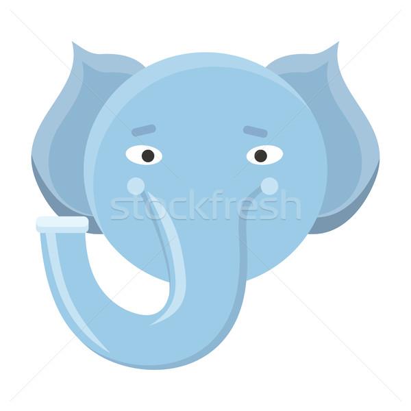 слон маске изолированный белый кабан Сток-фото © robuart