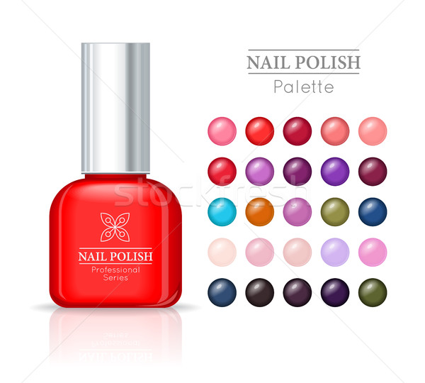 Nail Polish Pallet. Women Accessories Nail Collection Stock photo © robuart