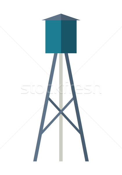 Water Tower Vector Illustration in Flat Design.   Stock photo © robuart