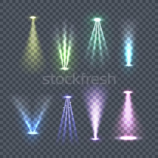 Set of Spotlights Color Rays Vector Illustration Stock photo © robuart