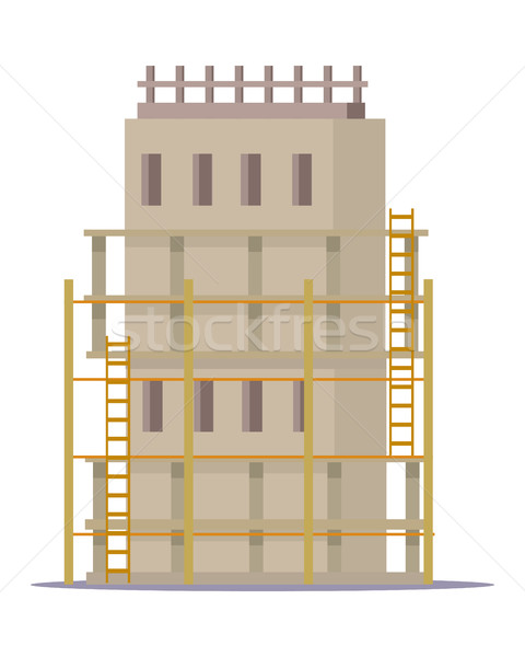 Building Construction Process of Cottage House. Stock photo © robuart