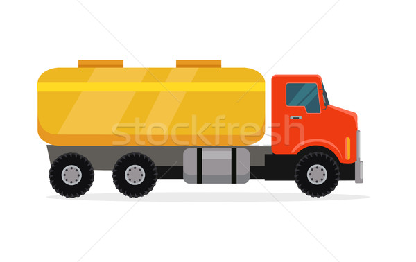Tank Truck Vector Illustration in Flat Design Stock photo © robuart