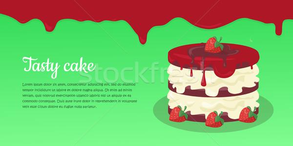 Bolo teia bandeira chocolate bolo de chocolate Foto stock © robuart