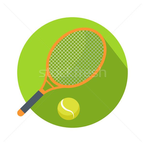 ラケット ボール アイコン ロゴ テニス webボタン ストックフォト © robuart