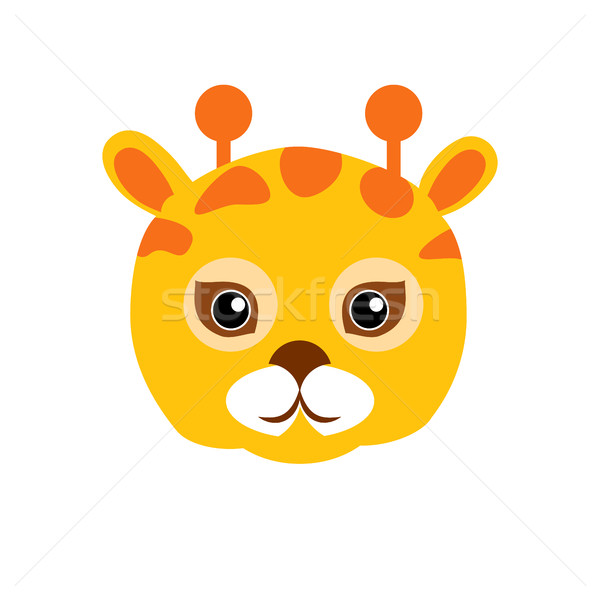 Giraffa animale carnevale maschera infantile vettore Foto d'archivio © robuart
