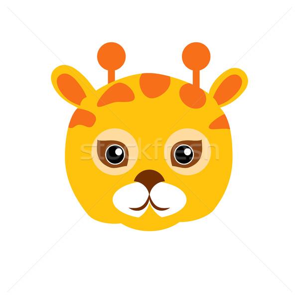 Stock photo: Giraffe Animal Carnival Mask. Childish Masquerade