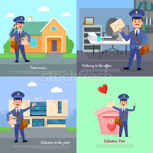 ポスト サービス 配信 オフィス 歓迎 バレンタイン ストックフォト © robuart