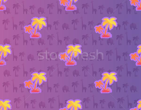 Egzotyczny palm Afryki roślin zwierząt Zdjęcia stock © robuart