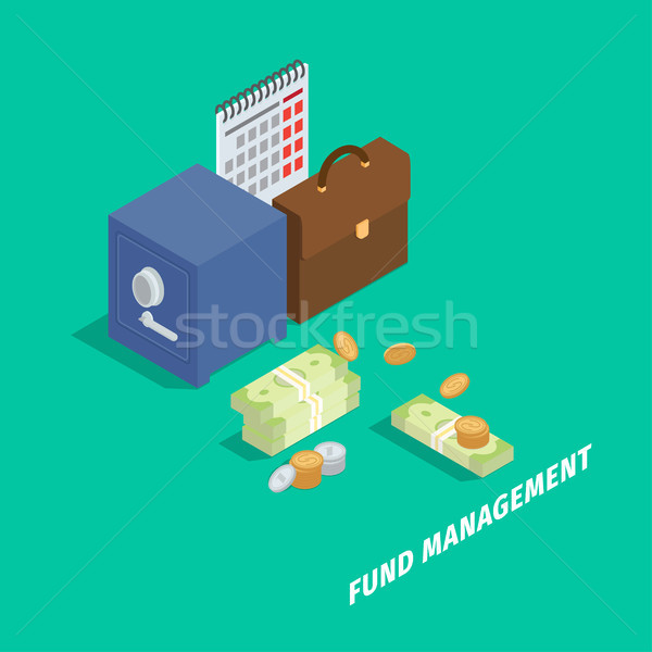Fund Management Isometric Vector Concept Stock photo © robuart