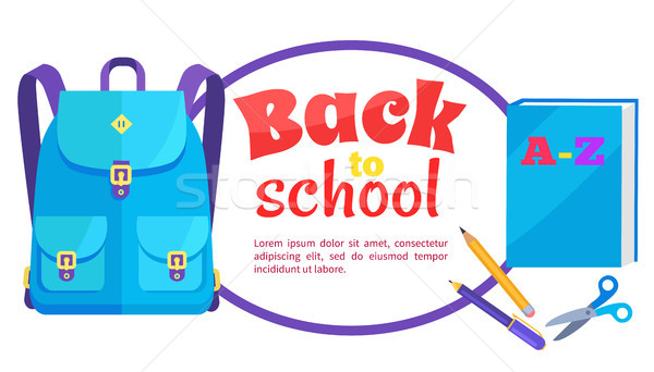 Back to School Poster Rucksack and Accessory Set Stock photo © robuart