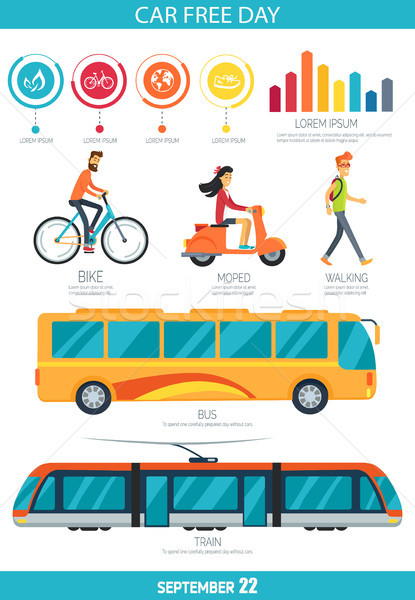Car Free Day September 22 Vector Illustration Stock photo © robuart