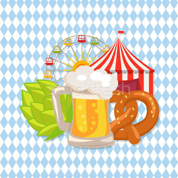 Closeup White Vector Illustration of Beer Food Stock photo © robuart