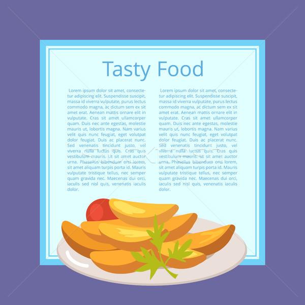 Stockfoto: Smakelijk · voedsel · poster · plaat