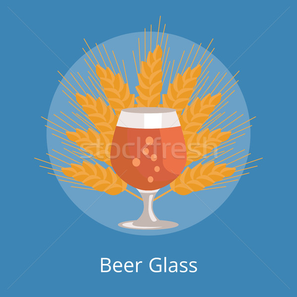 Cerveza transparente cristalería vector vidrio orejas Foto stock © robuart