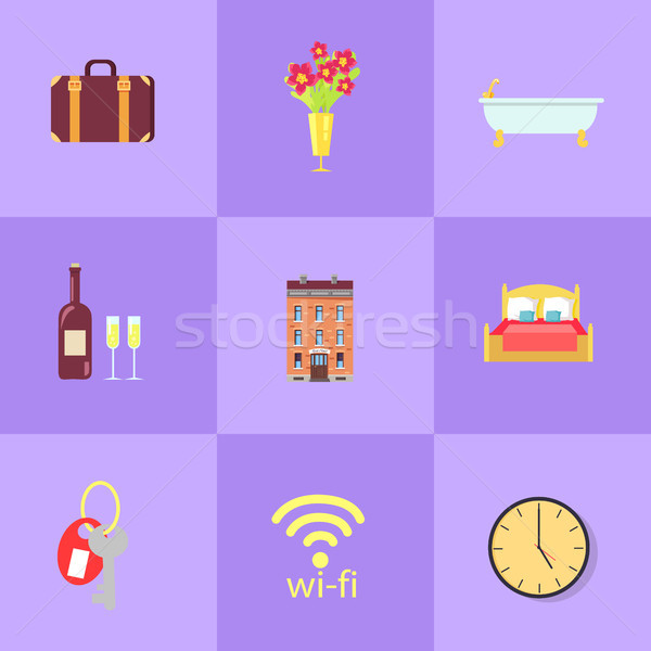 Comfortable Time in Hotel Isolated Illustrations Stock photo © robuart