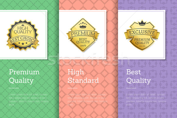 Premium Quality Best High Standards Golden Labels Stock photo © robuart