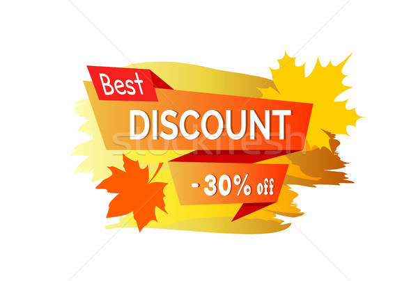 Best Discount -30 Off Placard Vector Illustration Stock photo © robuart
