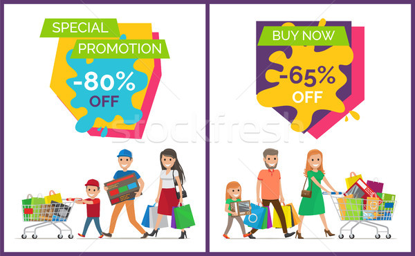 Special Promotion Buy Now Vector Illustration Stock photo © robuart